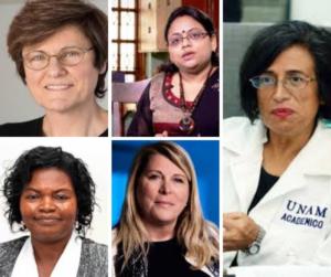 Katalin Kariko, Laurence Devillers, Esperanza Martinez Romero, Ritu Karidhal, Catherine Ngila.