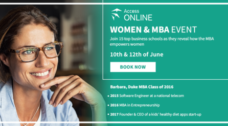 Empower through education. Join the Women & MBA online event!